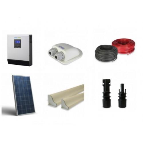 Schema Collegamento Fotovoltaico : Solar energy point kit fotovoltaico camper w inverter w v